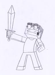 drawn minecraft minecraft steve pencil and in color drawn
