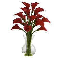 silk calla lilies nearly galla calla with vase arrangement in 1299