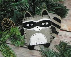 raccoon ornament etsy