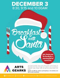 breakfast with santa downtown springdale