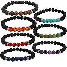 lucky bead bracelet images Yission 7 pack gemstone bracelet natural stones stretch bracelets jpg