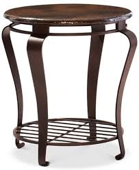 round end tables cheap clark copper round end table furniture macy s