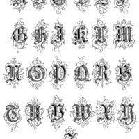 typography alphabet ornamental renaissance 27 types
