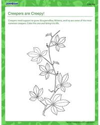 creepy coloring pages creepers are creepy free coloring pages on plants jumpstart
