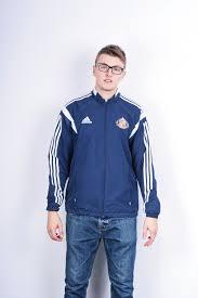 Football Bench Jackets Adidas Mens L Football Jacket Sunderland A F C Navy Blue