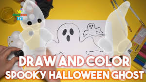draw and color spooky halloween ghost for kids halloween videos