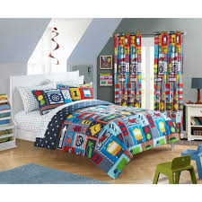 mainstays busy car transportation bed in a bag bedding set