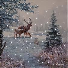 deer snow led canvas by kaleidoscope kaleidoscope