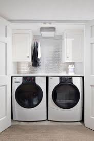 Installing Wall Cabinets In Laundry Room White Wooden Laundry Cabinet With Maroon Washing Machine White