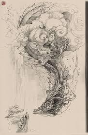 chinese dragon pencil drawing zhelong xu on artstation at https