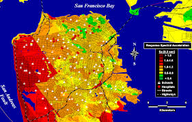 san francisco hospitals map earthquake ground shaking in the san francisco bay region page 3 06