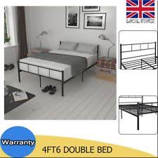 double metal bed frame bedroom guest student modern slats cheap