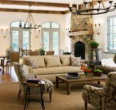 New Country French Cottage Mediterranean Family Room DC - Country family rooms