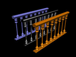 Banister Staircase Stairs Banister Staircase Bannister Home Interior 3ds 3d