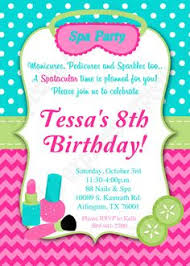 spa party invitations free printable kids birthday invites from