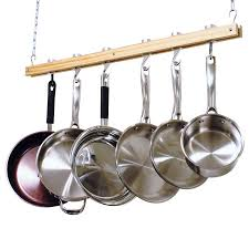 pot and pan rack to organize your kitchen utensils exist decor