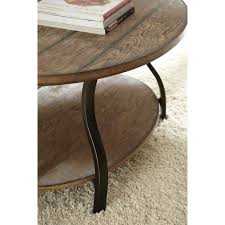 steve silver denise oval light oak wood coffee table hayneedle