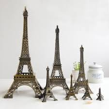 eiffel tower table vintage bronze alloy eiffel tower model metal crafts 1pc