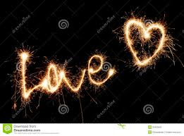 heart sparklers inscription and heart of sparklers royalty free stock photo