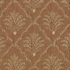 vintage brown diamond medallion woven brocade upholstery fabric