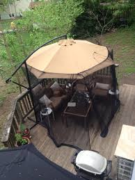 Aldi Rattan Garden Furniture 2017 100 Screened Gazebo Outdoor Bug Free Living Room On My Deck 10