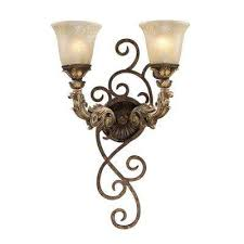 Sconce Fixture Sconces Bathroom Lighting The Home Depot