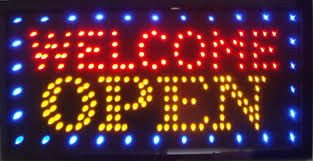 shop open sign lights new advertising light shop welcome open sign 33 60 cm led neon sign