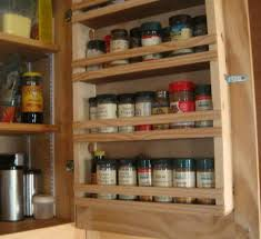 Cabinet Door Spice Rack Wood Roselawnlutheran - Kitchen cabinet spice storage