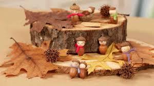 thanksgiving kids videos video handmade acorn people martha stewart