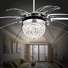 Chandelier Led Lights Luxury Modern Crystal Chandelier Ceiling Fan Lamp Folding Ceiling