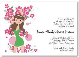 birthday invitations girl 16th birthday invitation