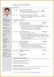 exles of simple resumes proper resume format exles images entry level resume