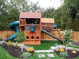 Best Playset Images On Pinterest Back Garden Ideas Backyard - Backyard playground designs