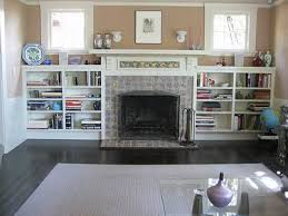 Built In Bookshelves Fireplace by Fireplace Surround With Cabinets Or Shelves Built In Beside It