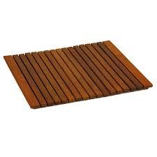 Teak Patio Flooring by Large Teak Outdoor Shower Mats