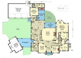 Floor Plans With Courtyards Two Covered Patios And Parking Courtyard 48311fm Architectural