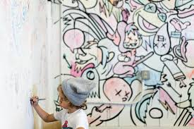in hawaii contemporary art gets its moment in the sun the new phoenix rose drawing on a coloring book mural by jasper wong credit brandon shigeta