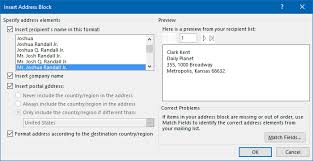 address envelopes and letters with outlook contact data