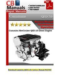 cummins qsd 2 0l service manual pdf by karnakal issuu