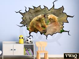 grizzly bears wall sticker peel and stick animal mural zoo scene home peel and stick wall decals animal wall decals grizzly bears wall sticker peel and stick animal mural zoo scene wall sticker vwaq wc20