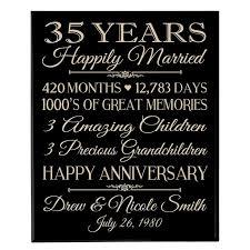 30th wedding anniversary gift ideas 35th wedding anniversary gift ideas for parents wedding gifts