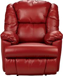 bmaxx bonded leather power reclining chair u2013 red the brick