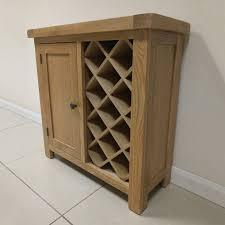 canton oak wine rack cupboard oak direct