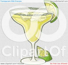 margarita png clipart of a cartoon margarita cocktail garnished with lime