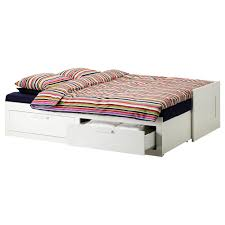 double trundle bed bedroom furniture brimnes daybed frame with 2 drawers ikea