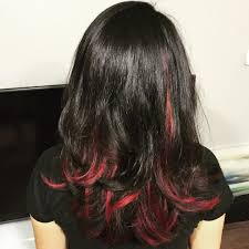 70 breathtaking red highlights styles u2014 flames in your hair