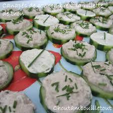canap au thon canapés de concombre à la rillette de thon choutambouilletout