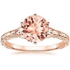 hudson wedding band morganite hudson engagement ring 14k gold ring and gold