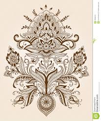 henna lace paisley flower vector royalty free stock images image