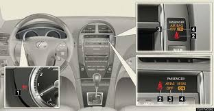 lexus rx 350 warning lights front passenger occupant classification system safety information